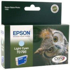 Epson Owl Claria Photographic Ink Light Cyan T0795