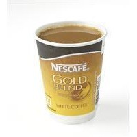 Nescafe & Go Gold Blend White Coffee Foil-sealed Cup for Drinks Machine Ref 12033813 [Pack 8]