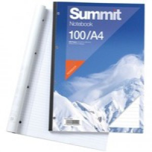 Summit Refill Pad Feint Ruled with Margin 60gsm 160pp A4 White Ref 100080234 [Pack 5]