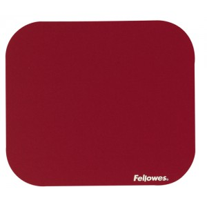 Fellowes Mousepad Solid Colour Red Ref 58022-06