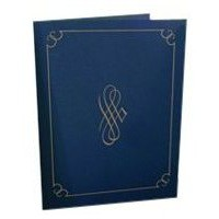 Certificate Covers Linen Finish Heavyweight Card Stock 290g Blue [Pack 5]