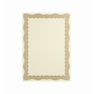 Certificate Papers with Foil Seals 90gsm A4 Bronze Wave [Pack 30]