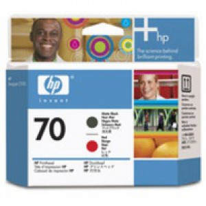 Hewlett Packard No70 Print Head Black Red C9409A