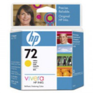 HP No.72 Inkjet Cartridge 69ml Yellow Code C9400A