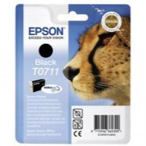 Epson T0711H Inkjet Cartridge DURABrite Giraffe High Yield Page Life 385-415pp Black Ref C13T07114H10