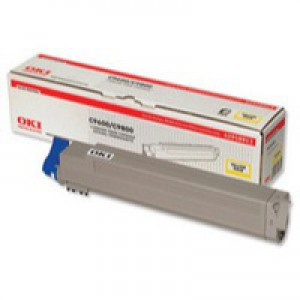 OKI Laser Toner Cartridge Page Life 15000pp Yellow Ref 42918913