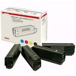 Oki C96/9800 Rainbow Pack Toner Cartridges 15K Code 43112702