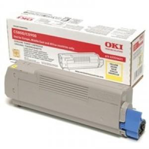 OKI Laser Toner Cartridge Page Life 5000pp Yellow Ref 43324421