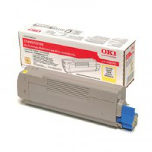 OKI Laser Toner Cartridge Page Life 2000pp Yellow Ref 43381905