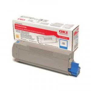 OKI Laser Toner Cartridge Page Life 2000pp Cyan Ref 43381907