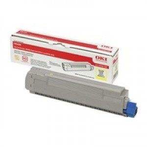 OKI Laser Toner Cartridge Page Life 6000pp Yellow Ref 43487709