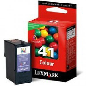 Lexmark No. 41 Inkjet Cartridge Return Program Page Life 205pp Colour Ref 18Y0141E