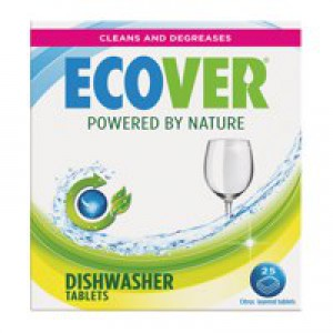 Ecover Dishwasher Tablets Environmentally Friendly Pack 25