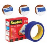 3M Scotch Secure Tape Blue 35mm x33 Metres 820