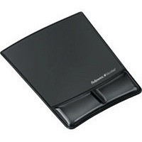 Fellowes Professional Crystal Gel Mouse Pad Wrist Rest Microban Cushioned Black Ref 9182301