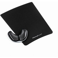 Fellowes Professional Crystal Gel Palm Support Pad Microban Cushioned Black Ref 9180701
