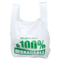 Image for Carrier Bags Vest Style Large Degradable [Pack 2000]