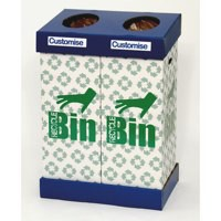 Acorn Office Twin Recycling Bin Blue/Green