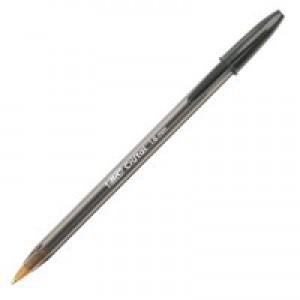 Bic Cristal Large Ballpoint Pen Broad Nib 1.6mm Line Width 0.8mm Black Ref 880648 [Pack 50]
