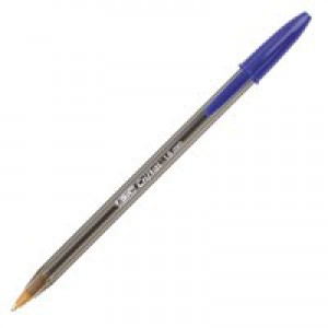 Bic Cristal Large Ballpoint Pen Broad Nib 1.6mm Line Width 0.8mm Blue Ref 880656 [Pack 50]