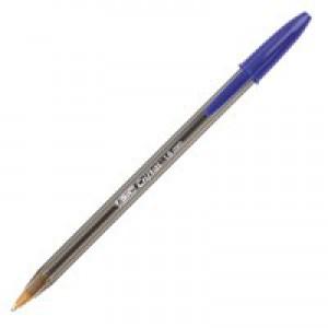 Bic Cristal Large Ballpoint Pen Broad Nib 1.6mm Line Width 0.8mm Blue Code 880656