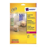 Avery Crystal Clear Labels Laser Circular 24 per Sheet Dia.40mmTransparent Ref L7780-25 [600 Labels]