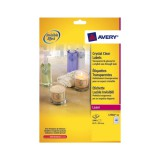 Avery Crystal Clear Labels Laser Durable 40 per Sheet 45.7x25.4mmTransparent Ref L7781-25 [1000 Labels]