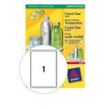 Avery Crystal Clear Labels Laser Durable 1 per Sheet 210x297mmTransparent Ref L7784-25 [25 Labels]