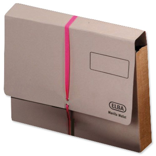 Elba Deed Legal Wallet with Security Ribbon Capacity 100mm Foolscap Buff Ref 100080793 [Pack 25]
