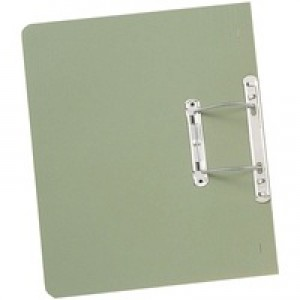 Guildhall Transfer Spring Files Heavyweight 420gsm Capacity 38mm Foolscap Green Ref 211/7002Z [Pack 25]