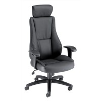 Image for Trexus Hampshire Plus Managers Armchair Headrest Back H660mm W520xD510xH470-550mm Leather Ref 10472-01