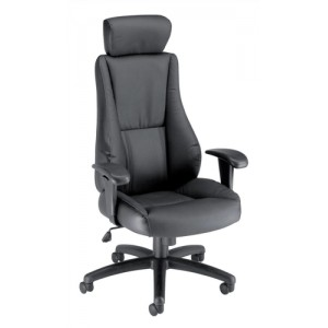 Trexus Hampshire Plus Managers Armchair Headrest Back H660mm W520xD510xH470-550mm Leather Ref 10472-01