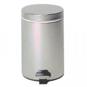 Pedal Bin Stainless Steel with Removable Plastic Liner 12 Litres