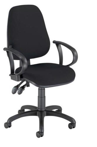 Trexus Lumb-Air High Back Operators Armchair Back H500mm W460xD460xH440-580mm Charcoal Ref SP9080CH