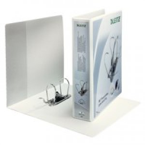 Leitz Presentation Lever Arch File 180degree Opening 80mm Spine A4 White Ref 42250001 [Pack 10]