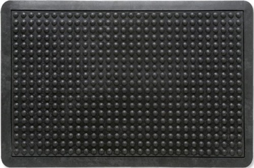 Mat Rubber Anti Fatigue Textured Anti Slip Bevelled Edge 610x910mm Bubble Pattern