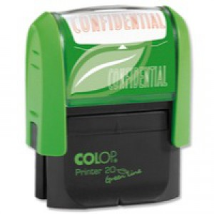 Colop Word Stamp Green Line Confidential GLP20CONF
