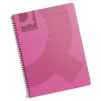 Q-Connect Pink Spiral A4 Notebook 160Pg