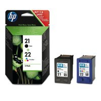 Hewlett Packard [HP] No. 21/No. 22 Inkjet Cartridge Page Life 250pp 5ml Black/Colour Ref SD367AE [Pack 2]