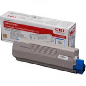 OKI Laser Toner Cartridge Page Life 6000pp Cyan Ref 43865723