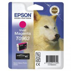 Epson T0963 Inkjet Cartridge UltraChrome K3 Husky Page Life 865pp Vivid Magenta Ref C13T09634010