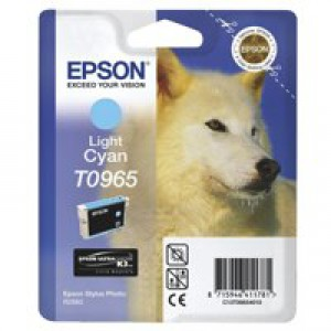 Epson T0965 Inkjet Cartridge UltraChrome K3 Husky Page Life 865pp Light Cyan Ref C13T09654010