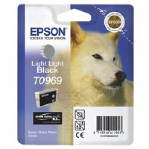 Epson T0969 Inkjet Cartridge UltraChrome K3 Husky Page Life 6055pp Light Light Black Ref C13T09694010