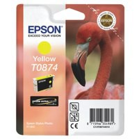 Epson T0874 Inkjet Cartridge UltraChrome Hi-Gloss2 Flamingo Page Life 1160pp Yellow Ref C13T08744010