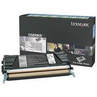 Lexmark Laser Toner Cartridge Return Program Page Life 1500pp Black Ref C5200KS