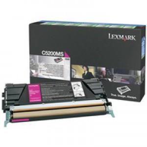 Lexmark Laser Toner Cartridge Return Program Page Life 1500pp Magenta Ref C5200MS