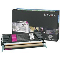 Lexmark Laser Toner Cartridge Return Program Page Life 1500pp Magenta Ref C5200MS