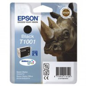 Epson T1001 Inkjet Cartridge DURABrite Ultra Black Ref C13T10014010