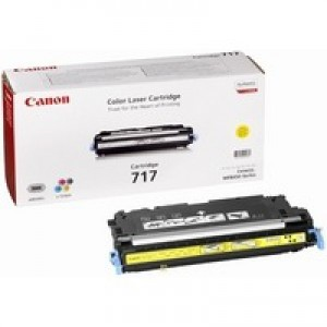 Canon 717Y Laser Toner Cartridge Page Life 4000pp Yellow Ref 2575B002
