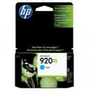 HP No.920XL Officejet Inkjet Cartridge Cyan Code CD972AE